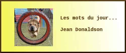 Les mots du jour : Jean Donaldson